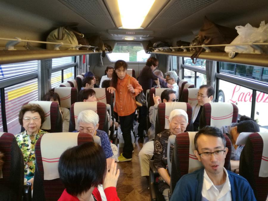 バスの中ワクワク